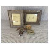 Wood Frames, Shells, Decorative Pieces