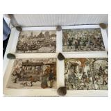 Anton Pieck Holland prints (set of 6)