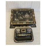 Mother of Pearl Hand Painted Antique Writing Set