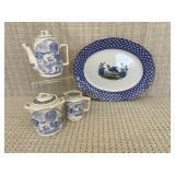 Corona Ware Chantilly Platter; Staffordshire Tea