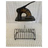 Antique Embosser and Letter Stand