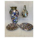 Mosaic Vases and Plates