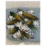 Beaded Needlepoint Pillow and Antique Linens
