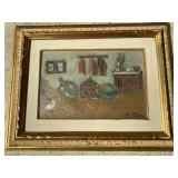 Signed Antique Original Still Life Oil Painting