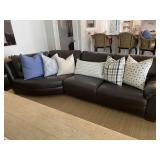 Natuzzi Leather Sofa (two piece, great condition!)