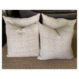 Brown & Cream Pillows (set of 4)