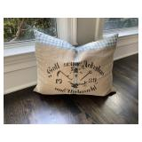"""Baby Blue and Tan Golf Pillow (24"""" x 20"""")"""