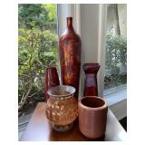 "Rust Colored Vases (tallest vase is 22"" tall)"
