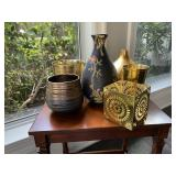 Gold Colored Vases