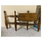 Antique Wood Bed, fits full size mattress