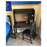 """Wood Desk & Chair (60"""" tall x 24"""" deep, 44"""" wide)"""