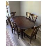 Dining Room Table & Chairs (6 chairs)
