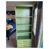 Green Bookshelf with Drawers