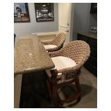 Counter Stools with woven back (qty. 2)