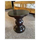 """Small Wood Side Table (16"""" wide, 18"""" tall)"""