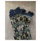Elephant Fabric Drapery Panels (qty. 2)
