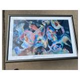 Framed Kandinsky: Improvisation (poster)