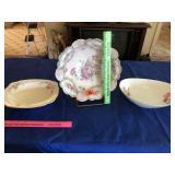 3 floral bowls