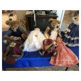Assortment of dolls & stuffed animals (some Boys