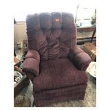 Burgundy Rocker chair (some wear)