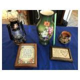 Battery lamp & vases