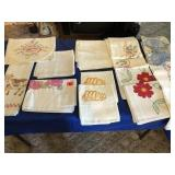 Assortment of hand done linens