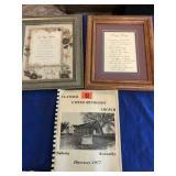 Church directory & 2 framed poems