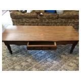 One drawer maple coffee table 53 x 16 x 15t