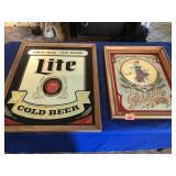 Beer advertising signs (2)