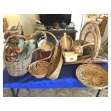 Group of magazine baskets & other baskets