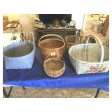 Group of old baskets