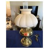 """Brass lamp 21"""" tall"""