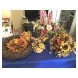 4 floral arrangements