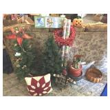 Christmas trees & decorations & Some Halloween
