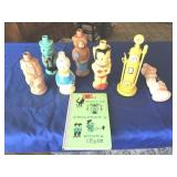 Vintage Disney soap containers & book