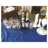 Coca Cola Santa classes, Pepsi bottles, vases &