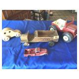 Vintage wood & metal toys