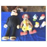 Vintage Mickey, McDonald & Dwarfs dolls (5)