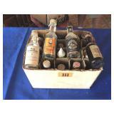 18 Mini liquor bottles (empty)