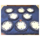 8 Flo-Blue plates (one has a small chip)