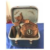 Cuckoo clock & cosmetic case