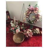 Floral arrangements, wreath & stands