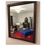 Walnut beveled Wall mirror 33 x27