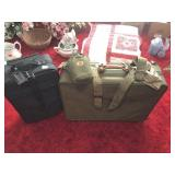 2 pcs of luggage, canteen & belts