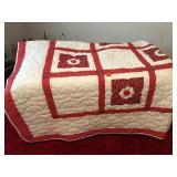 Machine stitched quilt 104 x 104