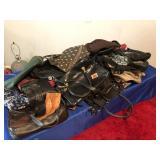 Assortment of ladies purses & 2 pr of gloves