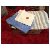 Box lot of table cloths & place mats