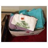 Box lot of towels & wash cloths