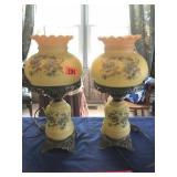 """Pair of matching table lamps 18"""" tall"""