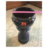 """Vase & pedestal 23"""" tall! 9"""" dia (small chips)"""